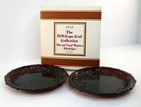 4 Plates Avon Cape Cod Collection Bread And Butter Lot Of 2 Total Ruby BNIB