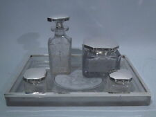 Hawkes Dresser Set - Antique Vanity - American Sterling & Cut Glass