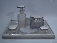 Hawkes Dresser Set - Antique Vanity - American Sterling Silver & Cut Glass