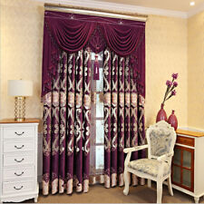 European embroidered luxury bedroom red cloth curtain tulle valance drape B818*