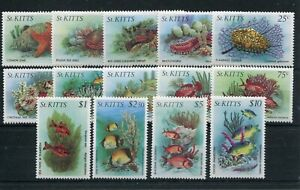 ST KITTS 1984 MARINE LIFE TO $10 SG143/56 NEVER HINGED