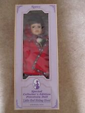 """Little Red Riding Hood Porcelain Doll 17"""" tall, Regency Sp'l Collector's Edition"""