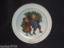 1981 Avon Christmas Memories Sharing The Christmas Spirit Collector Plate 1St Ed