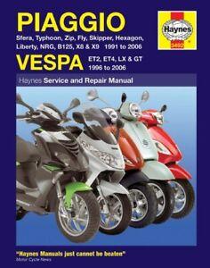 Vespa LX 50 2T EU 2005-2008 Manuals - Haynes