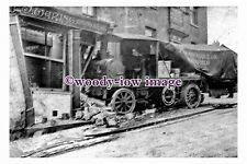 pu0319 - Steam Lorry Accident Waring Butchers Wakefield , Yorkshire - photograph