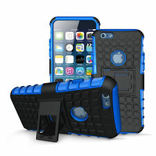 Case For Apple iPhone 6/6s Skin With Kickstand Blue Free Screen Protector New