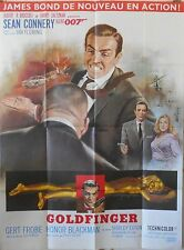 GOLDFINGER French movie poster 47x63 James BOND Top condition !