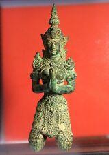Thai Guardian Angel Thepanom Amulet Buddhist Kneeling Figurine Statue Antique 1