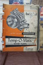 1960 S. A. SHENK & CO. TEMP-O-MATIC WATER PUMP CATALOG INDEX 432  (204)