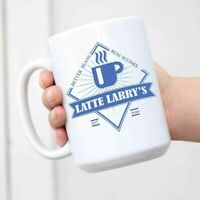 Latte Larrys Mug Better Beans Real Scones Hot Coffee Cup Curb Your Enthusiasm