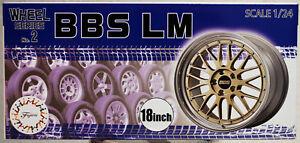 Fujimi 193434 Felgen BBS LM 18 Zoll inkl. Reifen Bridgestone Potenza 1:24 #N02