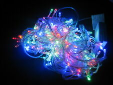 18m 200 LED Battery Powered Fairy Lights - Multi (clear Cable)