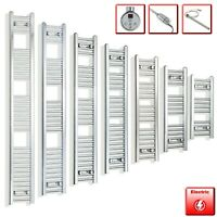 350 mm Wide Chrome Electric Heated Towel Rail Radiator Designer Bathroom Warmer