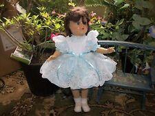 """Pretty Aqua Pinafore Dress for Toni 14"""" Doll"""