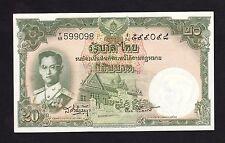 """Thailand 20 baht 1953 P77d Sign 41 Prefix """"Y68 599098"""" - AUNC"""