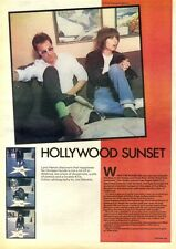 12/9/81PN17 ARTICLE & PICTURE(S) CHRISSIE HYNDE : HOLLYWOOD SUNSET