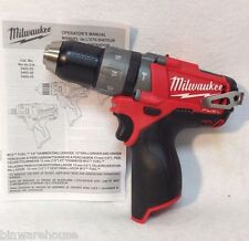 "Milwaukee 2404-20 NEW M12 12V Fuel Li-Ion Cordless 1/2"" Hammer Drill Bare Tool"
