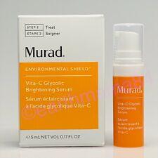 Murad Vita C Vitamin Glycolic Brightening Serum -Travel (0.17 oz/5mL) New in Box