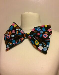 Adults Liquorice Allsorts Sweets Mad Hatter Clown Oversized Bow Tie Fancy dress