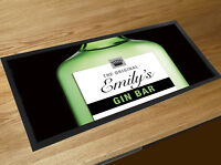 Personalised Bar runner Gin Party gift idea Pubs & Cocktail Bars counter mat