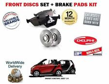 FOR MART CITY FORTWO CABRIO COUPE 2007-> FRONT BRAKE DISCS SET + DISC PADS KIT