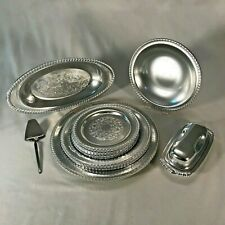13 Pieces of Rmc Aluminum dinnerware & serving pieces + bonus item