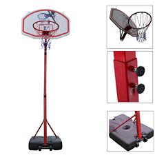 Portable Youth Basketball Court Goal Hoop Pool Indoor Adjustable Rim w/ Wheels