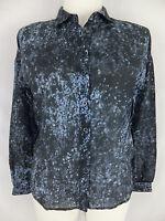 HUGO BOSS ORANGE Bluse mit Seide 34 auch für 36 passend neu blau grau Mod.Ciwest