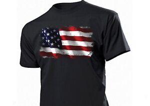 T-Shirt US Flagge Distressed USA Stars Banner Vintage Biker V8 Hot Rod US Car -5
