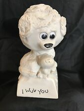 """200 VF-1A American Greetings Corp """"I Wuv You"""" Figurine Statue Paper Weight"""