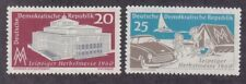 Germany DDR 514-15 MNH 1960 Opera House Leipzig Car Sailboat and Tent Fair Set