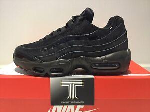 "Nike Air Max 95 ""Triple Black"" ~ 307960 010 ~ U.K. Size 5.5 ~ Euro 39"