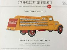 Original 1949 Coca Cola Delivery Truck Standardization Bulletin Insert, Framed