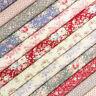 Tilda Old Rose Fabric / quilting dressmaking vintage pink floral christmas star