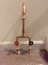 Hand Made Vintage Copper & Brass Basin Belfast Sink Mixer Taps