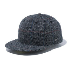 New Era 59Fifty Cap Harris Tweed Windowpane Metal Flag Logo New
