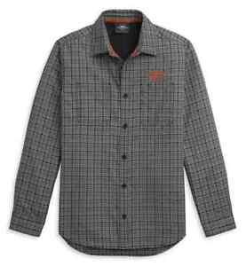 Harley Davidson Mens Plaid Performance Long Sleeve Shirt 96316-21VM