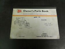 JCB Model 506B Loadall Forklift Telehandler Owner's Parts Book Manual