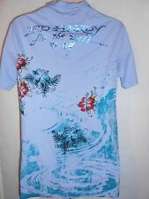 New Ed Hardy, light polo shirt Size S RRP £89