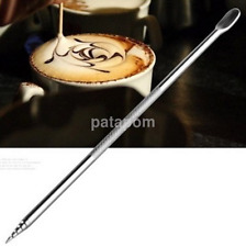 Hot Stainless Steel Barista Cappuccino Latte Espresso Coffee Decorating Pen AU