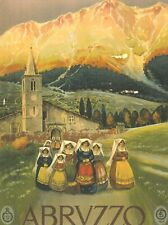 Affiche touristique ancienne des Abruzzes, Italie  RR - Group 657 poster
