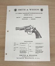 Smith & Wesson .357 Combat Magnum Model 66 Manual - #SW35