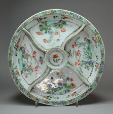 Antique Chinese Famille verte hors d'œuvre plat, Kangxi (1662-1722)