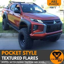 Mitsubishi TRITON MR 2019 2020 Pocket Style Textured Fender Flares Jungle