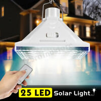 25 LED Solar Power Tent Bulb Light Outdoor Camping Yard Remote Control