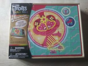 Trolls World Tour (5) Wooden Puzzles With Tray & Storage Box NEW SEALED