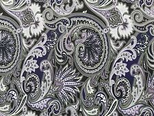3 YARDS STRETCH SPANDEX POLY LYCRA FABRIC BEAUTIFUL PAISLEY PRINT