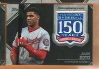 2019 Topps Baseball - 150 Years Patch Relic Card - Juan Soto - Washington