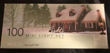 100 Icicle Lights Mini Light Set Indoor Outdoor Multi Colors New