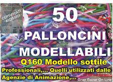 PALLONCINI MODELLABILI SOTTILI Q160 DECORAZIONI FESTA COMPLEANNO BABY 50 Pz.